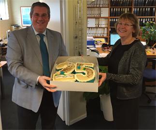 25 jaar taart